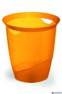 Kosz na śmieci DURABLE TREND 16l pomarańczowy przezroczysty 1701710009
