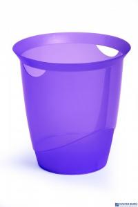 Kosz na śmieci DURABLE TREND 16l fioletowy przezroczysty 1701710992