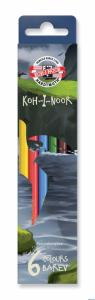 Kredki 6kol KRECIK 3651/3591 KOH-I-NOOR  /DINO