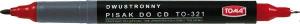 Marker do płyt CD TOMA TO-321 czerwony dwustronny