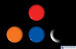 Magnesy do tablic pomarańczowe 20mm/6 GM400-P6 TETIS
