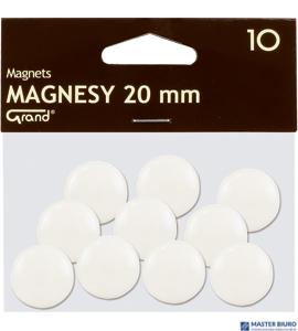 Magnesy 20mm GRAND białe (10) ^ 130-1689