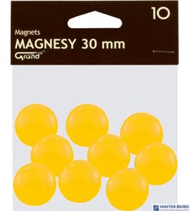 Magnesy 30mm GRAND żółte     (10)^ 130-1698