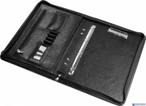 Teczka aktówka A4 ecoskóra czarna 0317/0417-0002-01 PANTA PLAST