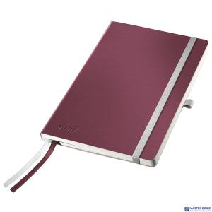 Notatnik miękki LEITZ STYLE A5 kratka Rubinowa czerwień 44880028