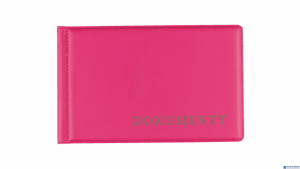 Okładka na dokumet.małe pink BIURFOL KOD-02-03