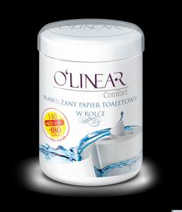 Nawilżany papier toaletowy w tubie Olinear