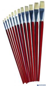 Pędzle 579 szczec.płaski 12szt 170-1423  do farb olej.