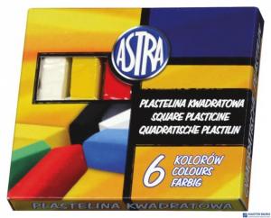 Plastelina kwadrat 6kol.ASTRA 53811908/83811908