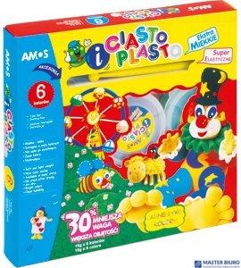 CiastoPlasto AMOS IC6PT - 6 kolorów+akcesoria 170-1023
