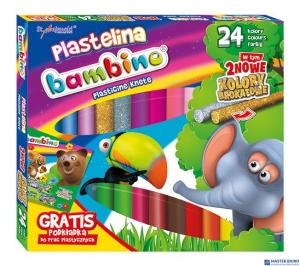 Plastelina BAMBINO 24 kolorów podkładka GRATIS St.Majewski