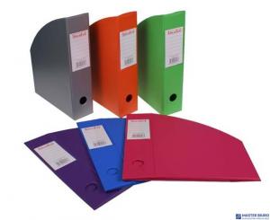 Pojemnik na czasopisma 10cm violet BIURFOL fioletowy KSE-36-05