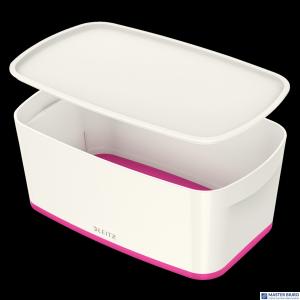 Pojemnik MyBOX mały z pokrywką biało-różowy LEITZ 52291023