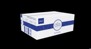 Ręcznik 21x22cm wzór biały 20x150 listków ELLIS
