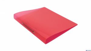 Segr.A4 PP 2ringi grz.3.3cm PP-00-04 czerwony transparent BIURFOL