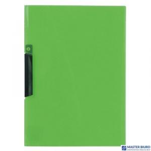 Skoroszyt z klipem A4 BIURFOL transparentny zielony PK-11-02