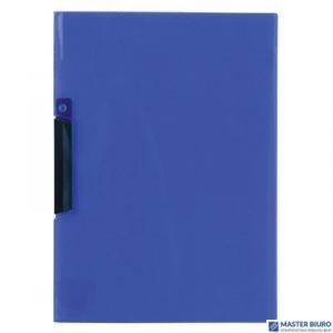 Skoroszyt z klipem A4 BIURFOL transparentny niebieski PK-11-03
