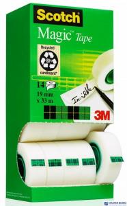 Taśmy Scotch Magic 19x33m 12+2 w kartonowym podajniku rolki 8-1933R14 3M