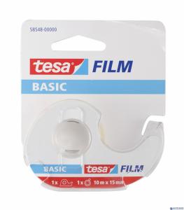 Taśma biurowa TESA Basic 15x10m z Dyspenserem w etui 1szt. 58548