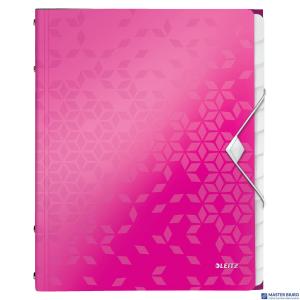 Teczka 12 przeródek A4 200k różowa LEITZ WOW 46340023