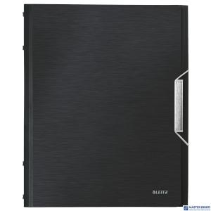 Teczka 6 przeródek A4 200k satynowa czerń LEITZ STYLE 39950094