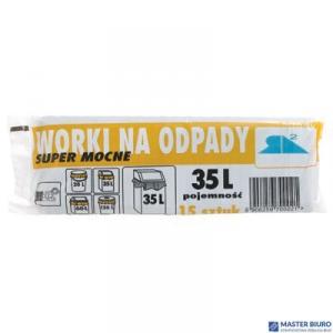 Worki na śmieci  35L 15szt/op.