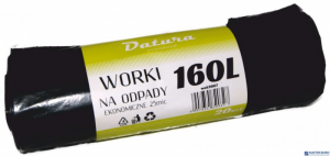 Worki na śmieci 160L 20szt/op DATURA ekonomiczny 25mic LDPE