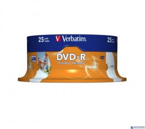 DVD-R VERABTIM CAKE(25)do nadruku Wide 4.7GB 16x  43538