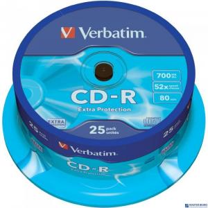Płyta CD-R VERBATIM CAKE(25) Extra Protection 700MB x52  43432