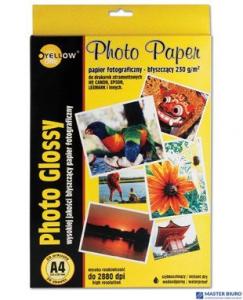 Papier fotograficzny błyszczący 4G130, 130 g/m, A4 20 arkuszy YELLOW ONE 150-1177