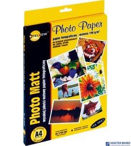 Papier fotograficzny matowy 4M190, 190 g/m, A4 50 arkuszy YELLOW ONE 150-1180