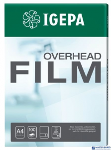 Folia A4(100)DTP 88225A IGEPA dr.laserowych przezroczysta