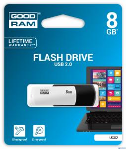 Pamięć USB GOODRAM 8GB UCO2 BLACK&WHITE USB 2.0 UCO2-0080KWR11