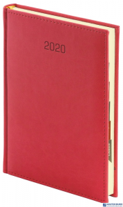 Terminarz książkowy A5 VIVELLA dzie/str.czerwony 005RK WOKÓŁ NAS 392stron