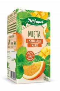 Herbata HERBAPOL Zielnik Polski Mięta z Pomarańczą i Mango 20tb/35g