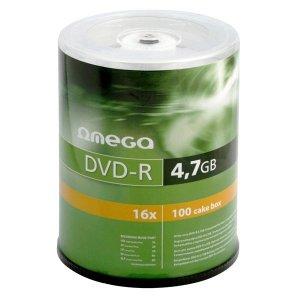 Płyta DVD-R 4,7GB 16X CAKE*100 OMEGA OMD16C100-