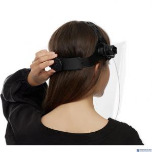 Przyłbica ochronna na twarz PET (gruba) 0,75-1mm COVER PRO + idealnie przezroczysta regulowana z blokadą kąta otwarcia P