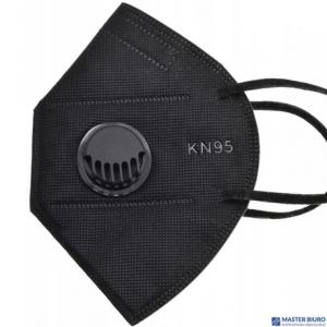 Maseczka ochronna KN95 5szt czarna z zaworkiem GB 2626-2006