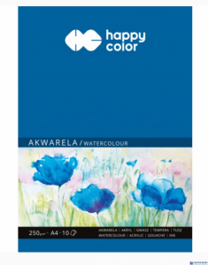 Blok akwarelowy art A4 10ark. 250g HA 3725 2030-A10 HAPPY COLOR