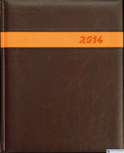 Kalendarz B5 PLUS książkowy (U2)13 grafit teksas/wstawka TELEGRAPH