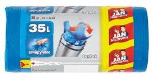 JAN NIEZBĘDNY Worki HD Easy-pack niebieskie wiązane 35l 30 szt. 32331