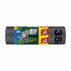 JAN NIEZBĘDNY Worki LD Magnum Flex&St taśma 35l 15 szt. 04324