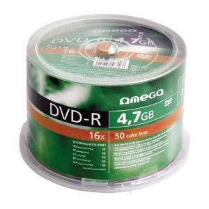 Płyta DVD+R 4,7GB 16X CAKE*50 OMEGA OMD1650+