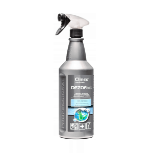 Preparat do dezynfekcji powierzchni CLINEX DEZOfast 1L 77014 z atomizerem