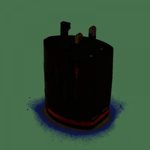 Adapter gniazdka UK USA EUR CHN 2 x USB Platinet czarny OTRA2B