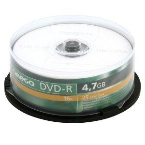 Płyta DVD+R 4,7GB 16X CAKE*25 OMEGA OMD1625+