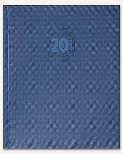 Kalendarz B5 PLUS książkowy (U2), 07 - niebieski cristal 192 x 238 mm TELEGRAPH
