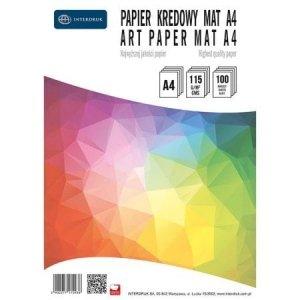 Papier kredowy A4 100ark  mat 115g INTERDRUK