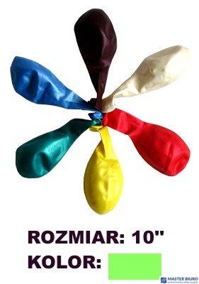 "Balony 10"""" METALLIC, zielony, 100 szt. FIORELLO 170-1566"