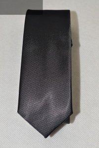 Krawat czarny gładki